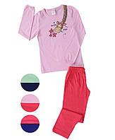 Трикотажная пижама с принтом жирафа для девочек 9-16 лет