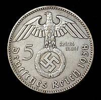 КОПИЯ!! Монета Германии (Третий Рейх) 5 рейхсмарок 1938 г., фото 1