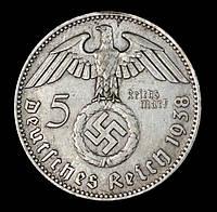 КОПИЯ! Монета Германии (Третий Рейх) 5 рейхсмарок 1938 г., фото 1