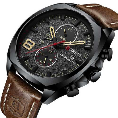 Curren 8324 Black-Brown