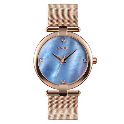 Оригинал! Женские часы Skmei 9177 Cuprum-Blue, фото 2
