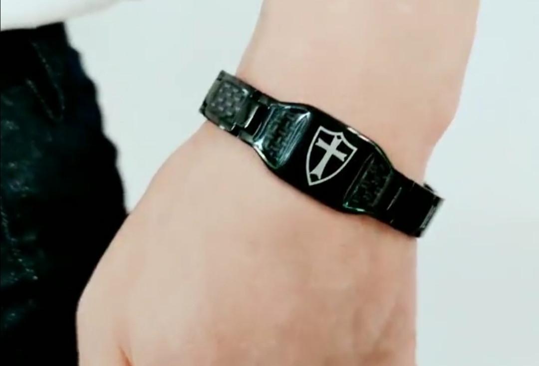 Карбоновый браслет оригинал! мужской титановый
