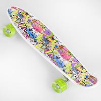 Пенни борд со светящимися колесами для девочки разноцветный Best Board