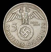 КОПИЯ! Монета Германии (Третий Рейх) 5 рейхсмарок 1939 г., фото 1