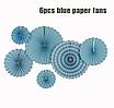 """Набор бумажных вееров """"Light blue mix"""" (6 шт.), фото 4"""