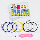 3D Ручка Fun Game (розовая) 6 цветов пластика 3д ручка 13 см, фото 2