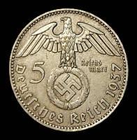 КОПИЯ!! Монета Германии (Третий Рейх) 5 рейхсмарок 1937 г., фото 1