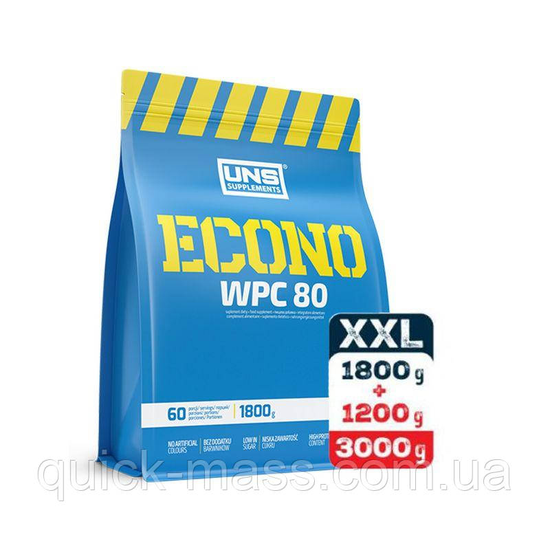 Протеин UNS Econo WPC 80 3000g