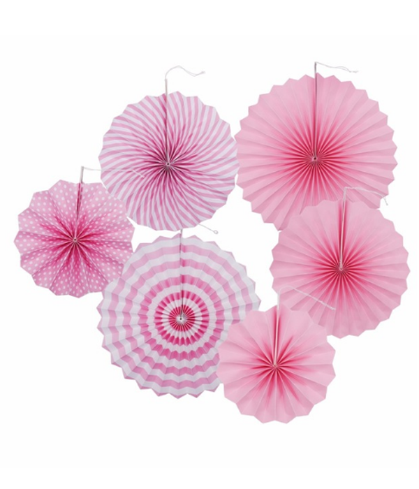 """Набор бумажных вееров """"Light pink mix"""" (6 шт.)"""