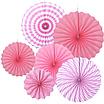 """Набор бумажных вееров """"Light pink mix"""" (6 шт.), фото 2"""
