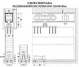 Раздвижная система для дверей USK 3019 (40кг) аналог EKF с 1,5 м профилем, фото 3
