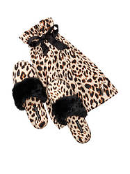 Атласные тапочки в мешочке леопард Victoria's Secret р.L ( р.39-40 )
