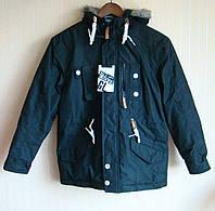 Куртка детская парка черная Gym Locker (размер 146-152 см, 9-10 лет)