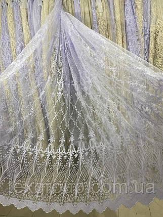 Красивая фатиновая гардина с люрексовой нитью №116185 на отрез, фото 2