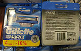 Леза касети картриджі Gillette Mach3 Turbo 4 шт / Жилет Мак3 Турбо, фото 2