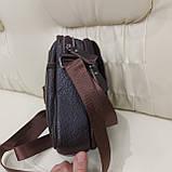 Городская мужская сумка из натуральной кожи кофейная, фото 2