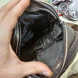 Городская мужская сумка из натуральной кожи кофейная, фото 7