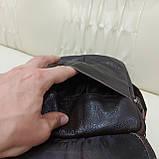 Городская мужская сумка из натуральной кожи кофейная, фото 8