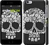 "Чехол на iPhone 6 Череп с цветами ""2864c-45"""