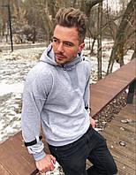 Мужская толстовка худи на флисе с капюшоном в Украине S M L XL