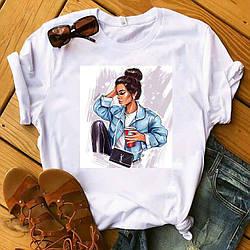 Очаровательная женская хлопковая футболка с красивым декором  goddess of beauty