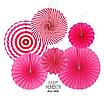 """Набор бумажных вееров """"Pink mix"""" (6 шт.), фото 2"""