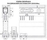 Раздвижная система для дверей  USK 3015 (80кг) аналог EKF с 1,5 м профилем, фото 4
