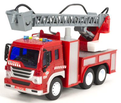 Пожарная машина с водяной помпой, свет, звук, подьемная лестница