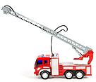 Пожарная машина с водяной помпой, свет, звук, подьемная лестница , фото 3