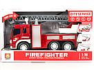 Пожарная машина с водяной помпой, свет, звук, подьемная лестница , фото 4