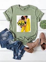 Стильная женская хлопковая футболка с красивым декором phoenix
