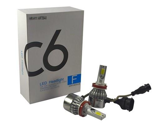 Світлодіодні LED-лампи для автомобіля ADS С6 H11 6000K, 3600Lm з охолодженням LED Headlight