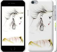 "Чехол на iPhone 6 Девушка акварелью v2 ""3021c-45"""