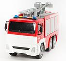 Пожарная машина с водяной помпой, свет, звук, выдвижная лестница , фото 2