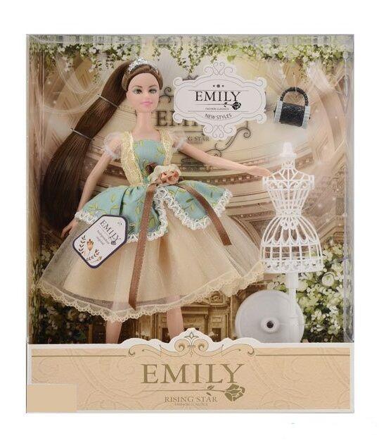Кукла Эмили Emily Fashion Classics брюнетка в пышном платье с высокой детализацией 30см вид 6