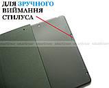 Винтажный смарт чехол Apple Ipad 7  10.2 / Ipad 8 10.2 2020 Deer бордовый с фиксатором Apple pencil, фото 6