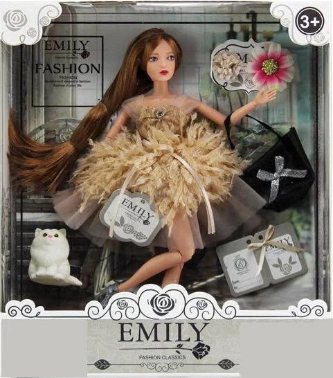 Кукла Эмили Emily Fashion Classics брюнетка в пышном платье с высокой детализацией 30см вид 9