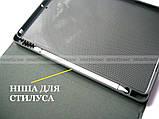 Винтажный смарт чехол Apple Ipad 7  10.2 / Ipad 8 10.2 2020 Deer бордовый с фиксатором Apple pencil, фото 9