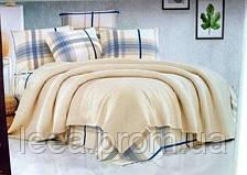 Постільна білизна з вафельним покривалом Begenal Піку Євро 220х240 Ранфорс Wood