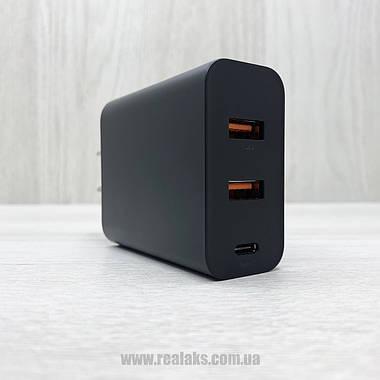 Сетевое зарядное устройство адаптер Baseus PPS Three Output Quick Charger 60W (Type-C+2USB) black, фото 2