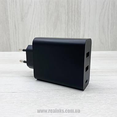 Сетевое зарядное устройство адаптер Baseus PPS Three Output Quick Charger 60W (Type-C+2USB) black, фото 3