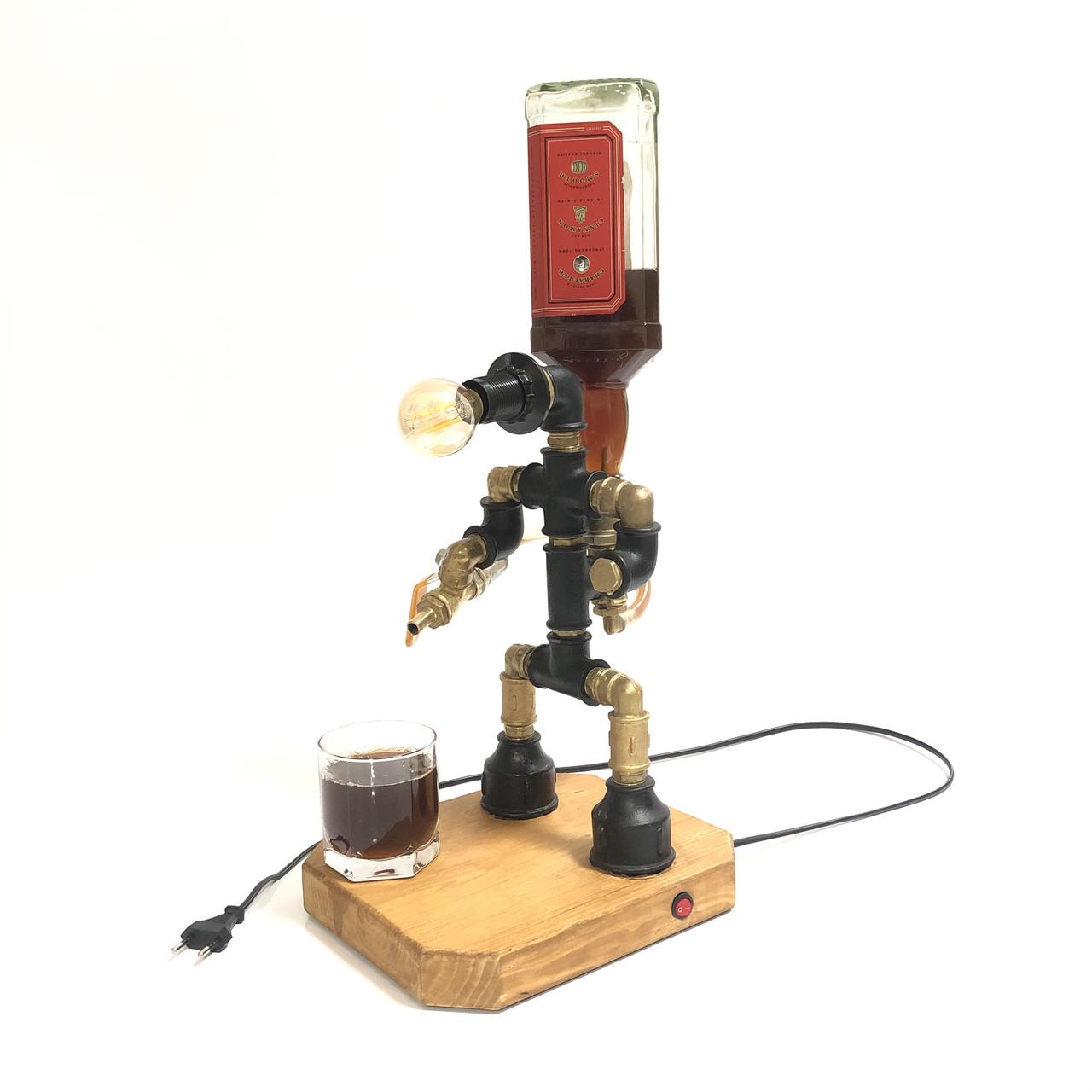 """Настольный светильник """"Робот-Бармен"""" с подачей алкоголя"""