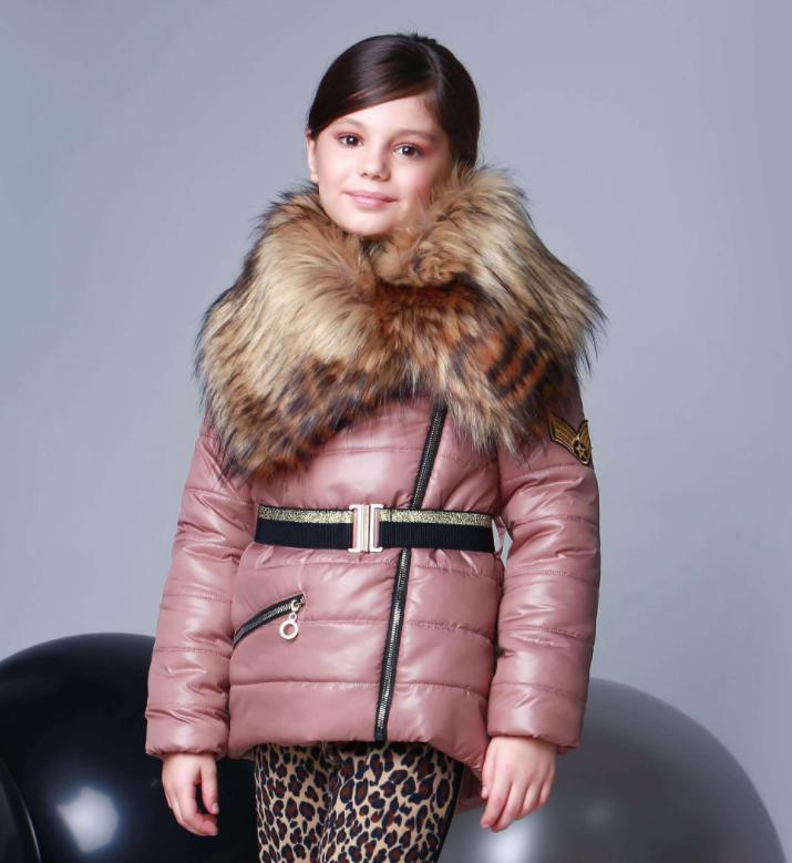 Куртка под пояс для девочки ТМ МОНЕ р-р 140