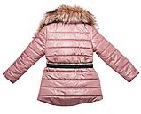 Куртка под пояс для девочки ТМ МОНЕ р-р 140, фото 6