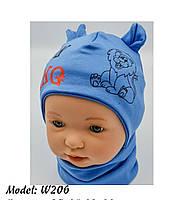 Шапка для мальчика трикотажная со львом на завязках Размер 38-40 см, Размер 42-44 см, фото 10