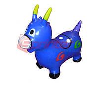 Надувная игрушка-попрыгунчик козлик (синий)