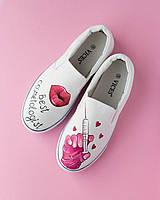 Обувь медицинская женская и дизайнерским рисунком
