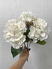 Искусственная гортензия премиум ( белая 43 см ), фото 3