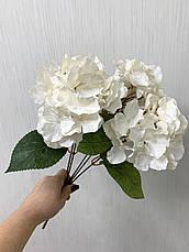 Искусственная гортензия премиум ( белая 43 см ), фото 2