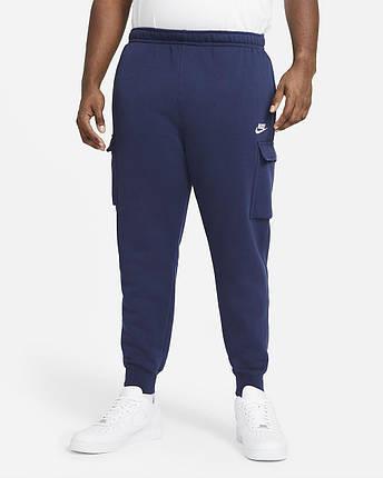 Штаны спортивные мужские Nike Sportswear Club Fleece CD3129-410 Темно-синий, фото 2